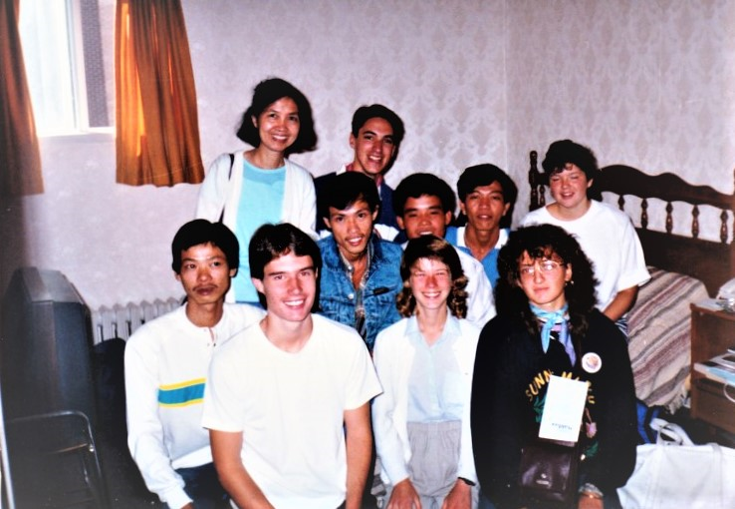 Staff with Vietnamese refugee clients